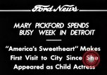 Image of Mary Pickford Detroit Michigan USA, 1934, second 5 stock footage video 65675069408