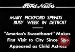 Image of Mary Pickford Detroit Michigan USA, 1934, second 7 stock footage video 65675069408