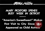Image of Mary Pickford Detroit Michigan USA, 1934, second 10 stock footage video 65675069408