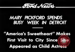 Image of Mary Pickford Detroit Michigan USA, 1934, second 11 stock footage video 65675069408