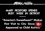 Image of Mary Pickford Detroit Michigan USA, 1934, second 12 stock footage video 65675069408