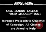 Image of Speed Recovery Campaign United States USA, 1934, second 10 stock footage video 65675069409