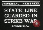 Image of workers strike Rossville Georgia USA, 1935, second 2 stock footage video 65675069439