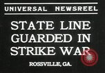 Image of workers strike Rossville Georgia USA, 1935, second 3 stock footage video 65675069439