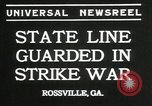 Image of workers strike Rossville Georgia USA, 1935, second 7 stock footage video 65675069439