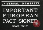 Image of European pact signed Rome Italy, 1935, second 1 stock footage video 65675069440