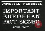 Image of European pact signed Rome Italy, 1935, second 3 stock footage video 65675069440