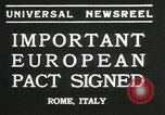 Image of European pact signed Rome Italy, 1935, second 4 stock footage video 65675069440