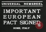 Image of European pact signed Rome Italy, 1935, second 5 stock footage video 65675069440