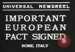Image of European pact signed Rome Italy, 1935, second 6 stock footage video 65675069440