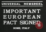 Image of European pact signed Rome Italy, 1935, second 7 stock footage video 65675069440