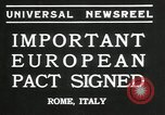 Image of European pact signed Rome Italy, 1935, second 8 stock footage video 65675069440