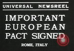 Image of European pact signed Rome Italy, 1935, second 9 stock footage video 65675069440