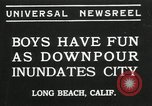 Image of heavy rainfall Long Beach California USA, 1935, second 1 stock footage video 65675069442