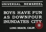Image of heavy rainfall Long Beach California USA, 1935, second 3 stock footage video 65675069442