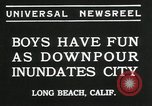 Image of heavy rainfall Long Beach California USA, 1935, second 4 stock footage video 65675069442