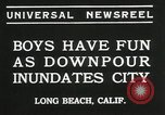 Image of heavy rainfall Long Beach California USA, 1935, second 5 stock footage video 65675069442