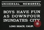 Image of heavy rainfall Long Beach California USA, 1935, second 6 stock footage video 65675069442