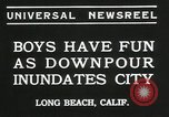Image of heavy rainfall Long Beach California USA, 1935, second 7 stock footage video 65675069442