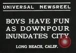 Image of heavy rainfall Long Beach California USA, 1935, second 8 stock footage video 65675069442