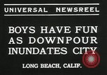 Image of heavy rainfall Long Beach California USA, 1935, second 9 stock footage video 65675069442