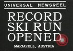 Image of ski run opened Mariazell Austria, 1935, second 1 stock footage video 65675069444