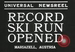 Image of ski run opened Mariazell Austria, 1935, second 5 stock footage video 65675069444