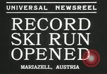Image of ski run opened Mariazell Austria, 1935, second 6 stock footage video 65675069444