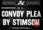 Image of convoy plea Washington DC USA, 1941, second 5 stock footage video 65675069458
