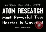 Image of test reactor Idaho United States USA, 1954, second 3 stock footage video 65675069471