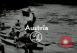 Image of canoeists and kayakers Austria, 1954, second 1 stock footage video 65675069476