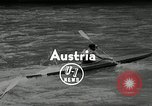 Image of canoeists and kayakers Austria, 1954, second 4 stock footage video 65675069476