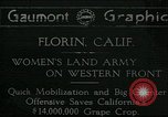 Image of United States women Florin California USA, 1918, second 1 stock footage video 65675069480