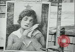 Image of artist paints posters Chicago Illinois USA, 1918, second 4 stock footage video 65675069483