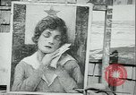 Image of artist paints posters Chicago Illinois USA, 1918, second 5 stock footage video 65675069483