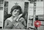 Image of artist paints posters Chicago Illinois USA, 1918, second 7 stock footage video 65675069483