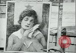 Image of artist paints posters Chicago Illinois USA, 1918, second 10 stock footage video 65675069483