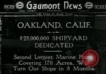 Image of Shipyard dedication Oakland California USA, 1918, second 1 stock footage video 65675069488