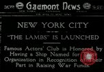 Image of Transport ship called The Lambs Kearny New Jersey USA, 1918, second 1 stock footage video 65675069489