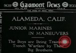 Image of United States Marines Almeda California USA, 1918, second 1 stock footage video 65675069490