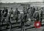Image of British officer and soldier engage US troops in bayonet drill France, 1917, second 5 stock footage video 65675069496