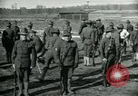 Image of British officer and soldier engage US troops in bayonet drill France, 1917, second 12 stock footage video 65675069496