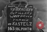 Image of 93rd Armored Artillery Battalion Weitbruch France, 1944, second 2 stock footage video 65675069536