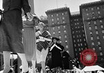 Image of outdoor fashion show San Francisco California USA, 1957, second 12 stock footage video 65675069540