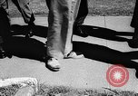 Image of soldier with very large feet San Francisco California USA, 1957, second 9 stock footage video 65675069548