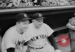 Image of Mickey Mantle and Ted Williams compete for batting title New York City USA, 1957, second 10 stock footage video 65675069559