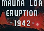 Image of Mauna Loa eruption Hawaii USA, 1942, second 4 stock footage video 65675069590