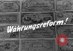 Image of exchange currency Germany, 1948, second 9 stock footage video 65675069603