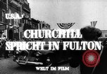 Image of Winston Churchill Fulton Missouri USA, 1948, second 9 stock footage video 65675069604