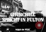 Image of Winston Churchill Fulton Missouri USA, 1948, second 10 stock footage video 65675069604